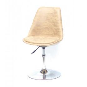 Кресло барное Milan (Милан) хромированная база, желтый MR (201)