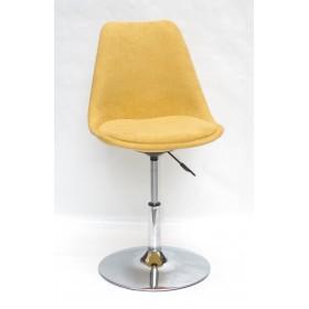 Кресло барное Milan (Милан) хромированная база, шенилл желтый G (100)
