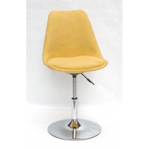 Купить Кресло барное Milan (Милан) хромированная база, шенилл желтый G (100)