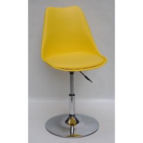 Кресло барное Milan (Милан) хромированная база, кожзам желтый (14)