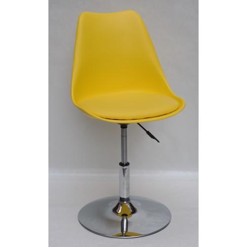 Купить Кресло барное Milan (Милан) хромированная база, кожзам желтый (14)