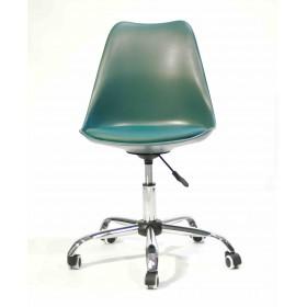 Кресло офисное Milan (Милан) хромированная база, экокожа, бирюза (02)