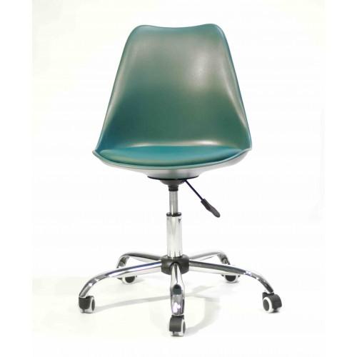 Купить Кресло офисное Milan (Милан) хромированная база, экокожа, бирюза (02)