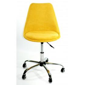 Кресло офисное Milan (Милан) хромированная база, шенилл желтый G (100)