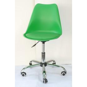 Кресло офисное Milan (Милан) хромированная база, экокожа, зеленый (44)