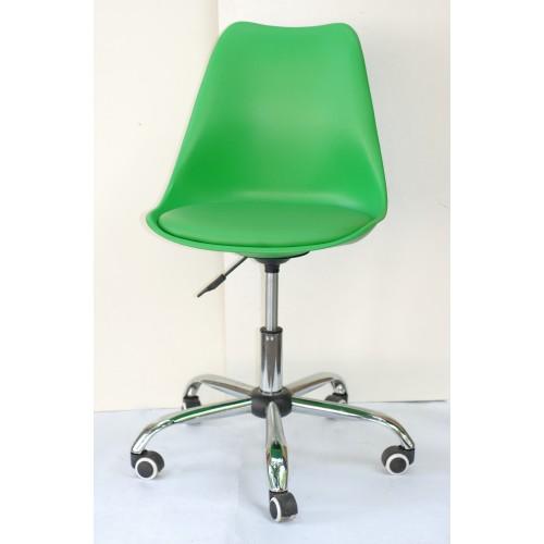 Купить Кресло офисное Milan (Милан) хромированная база, экокожа, зеленый (44)