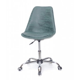 Кресло офисное Milan (Милан) хромированная база, экокожа, зеленый MR (202)