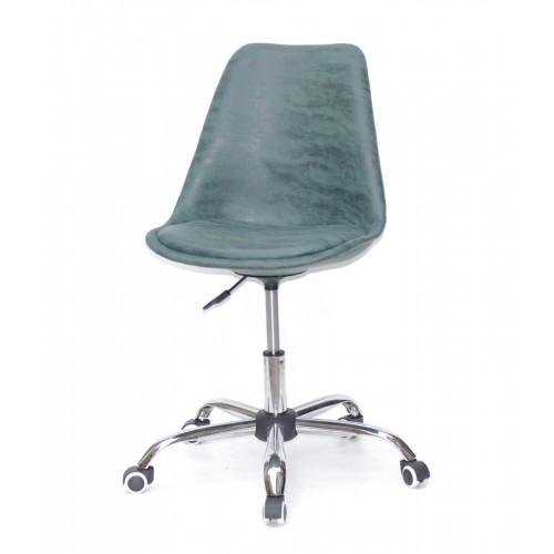 Купить Кресло офисное Milan (Милан) хромированная база, экокожа, зеленый MR (202)