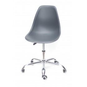 Кресло офисное Nik (Ник) хромированная база, пластик антрацит (01)