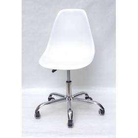 Кресло офисное Nik (Ник) хромированная база, пластик белый (07)