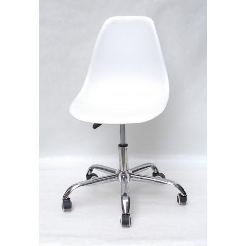 Купить Кресло офисное Nik (Ник) хромированная база, пластик белый (07)