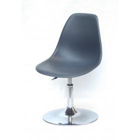 Кресло барное Nik (Ник) хромированная база, пластик антрацит (01)
