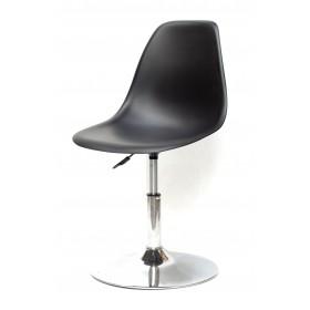 Кресло барное Nik (Ник) хромированная база, пластик черный (04)