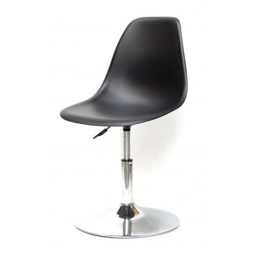 Купить Кресло барное Nik (Ник) хромированная база, пластик черный (04)