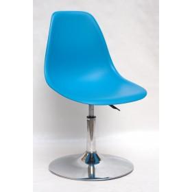 Кресло барное Nik (Ник) хромированная база, пластик голубой (51)