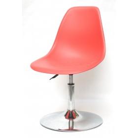 Кресло барное Nik (Ник) хромированная база, пластик красный (05)