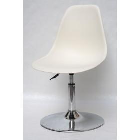 Кресло барное Nik (Ник) хромированная база, пластик молочный (56)