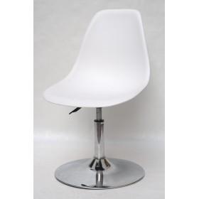 Кресло барное Nik (Ник) хромированная база, пластик белый (07)