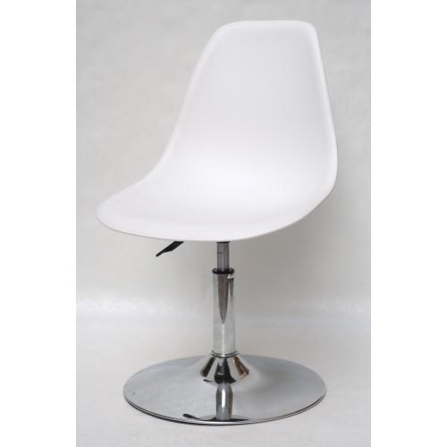 Купить Кресло барное Nik (Ник) хромированная база, пластик белый (07)