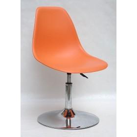 Кресло барное Nik (Ник) хромированная база, пластик оранжевый (70)