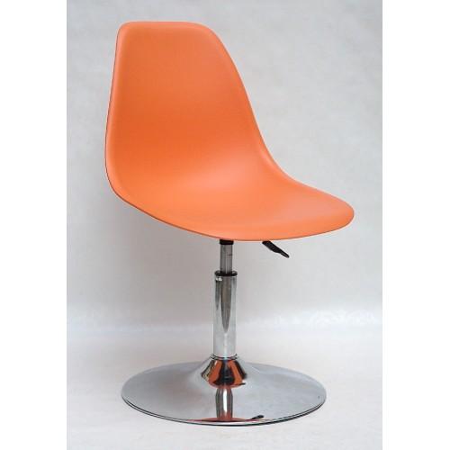 Купить Кресло барное Nik (Ник) хромированная база, пластик оранжевый (70)