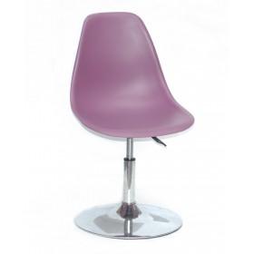 Кресло барное Nik (Ник) хромированная база, пластик пурпурный (62)