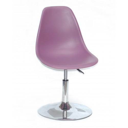 Купить Кресло барное Nik (Ник) хромированная база, пластик пурпурный (62)