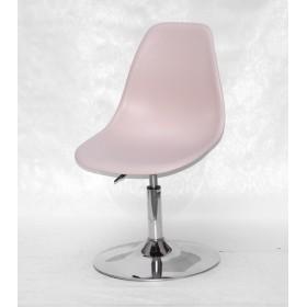 Кресло барное Nik (Ник) хромированная база, пластик розовый (63)