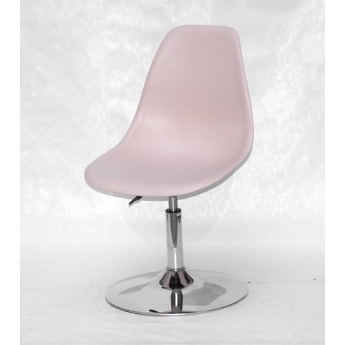 Купить Кресло барное Nik (Ник) хромированная база, пластик розовый (63)