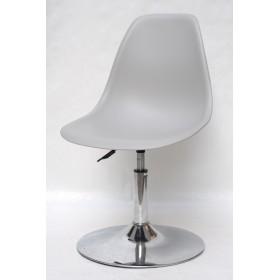 Кресло барное Nik (Ник) хромированная база, пластик серый (10)