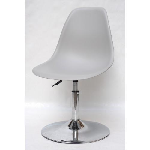 Купить Кресло барное Nik (Ник) хромированная база, пластик серый (10)
