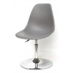 Кресло барное Nik (Ник) хромированная база, пластик серый (21)
