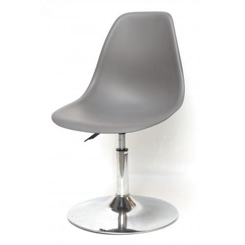 Купить Кресло барное Nik (Ник) хромированная база, пластик серый (21)