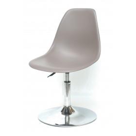 Кресло барное Nik (Ник) хромированная база, пластик серый (23)