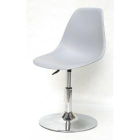 Кресло барное Nik (Ник) хромированная база, пластик серый (35)