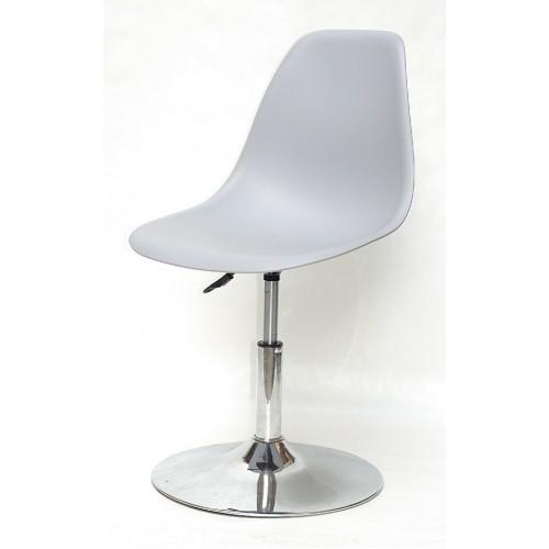 Купить Кресло барное Nik (Ник) хромированная база, пластик серый (35)