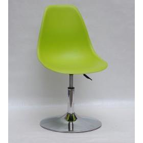 Кресло барное Nik (Ник) хромированная база, пластик зеленый (48)