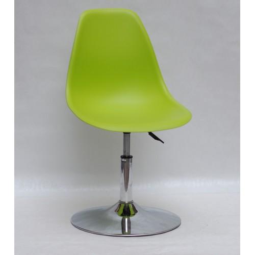 Купить Кресло барное Nik (Ник) хромированная база, пластик зеленый (48)