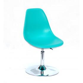 Кресло барное Nik (Ник) хромированная база, пластик зеленый (42)