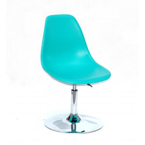 Купить Кресло барное Nik (Ник) хромированная база, пластик зеленый (42)