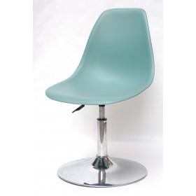 Кресло барное Nik (Ник) хромированная база, пластик зеленый (40)