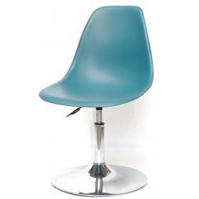 Кресло барное Nik (Ник) хромированная база, пластик зеленый (02)