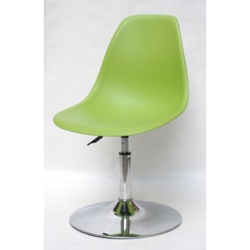 Кресло барное Nik (Ник) хромированная база, пластик зеленый (41)