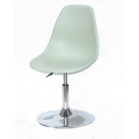Кресло барное Nik (Ник) хромированная база, пластик зеленый (45)