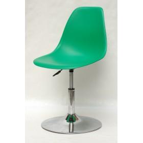 Кресло барное Nik (Ник) хромированная база, пластик зеленый (47)