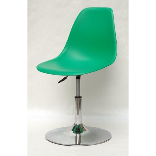 Купить Кресло барное Nik (Ник) хромированная база, пластик зеленый (47)