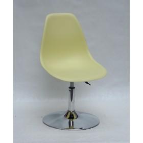 Кресло барное Nik (Ник) хромированная база, пластик желтый (15)