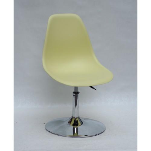 Купить Кресло барное Nik (Ник) хромированная база, пластик желтый (15)