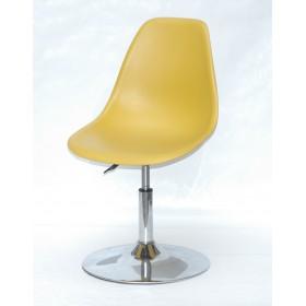 Кресло барное Nik (Ник) хромированная база, пластик желтый (11)