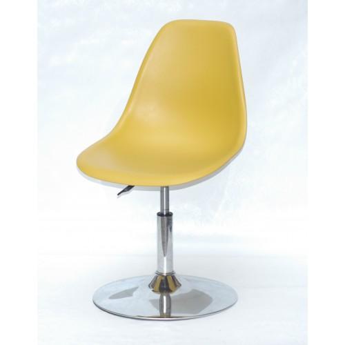 Купить Кресло барное Nik (Ник) хромированная база, пластик желтый (11)